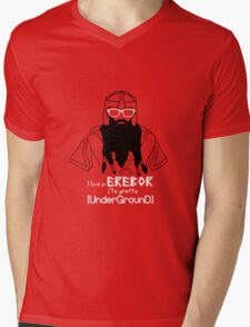 Hipster Dwarf Mens V-Neck T-Shirt