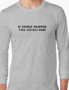 The Wire - If Animal Trapped Long Sleeve T-Shirt