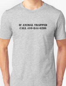 The Wire - If Animal Trapped T-Shirt