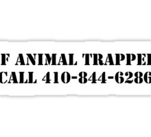 The Wire - If Animal Trapped Sticker