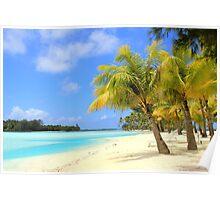 Bora Bora Island Beach Poster