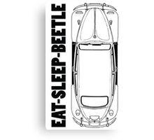 VW - Beetle - Eat Sleep Beetle Canvas Print