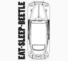VW - Beetle - Eat Sleep Beetle Kids Tee
