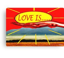 LOVE IS 9 Canvas Print