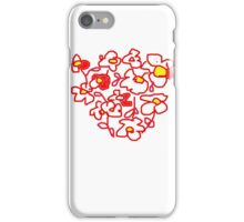 RED WHITE FLOWER  iPhone Case/Skin