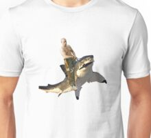 Putin riding a shark Unisex T-Shirt
