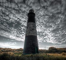 Spurn Lighthouse and Clouds (III) by Neil Cameron