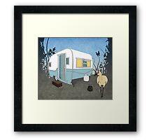 Travel Trailer & Sandhill Crane  Framed Print
