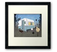 Travel Trailer & Sandhill Crane  Framed Print