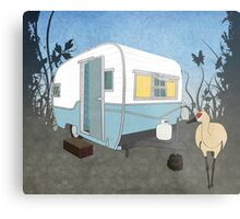 Travel Trailer & Sandhill Crane  Metal Print