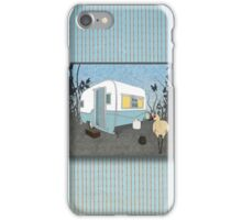 Travel Trailer & Sandhill Crane  iPhone Case/Skin