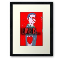 LOVE IS 12 Framed Print