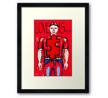 LOVE IS 13 Framed Print