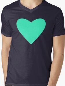 Mint Heart Mens V-Neck T-Shirt