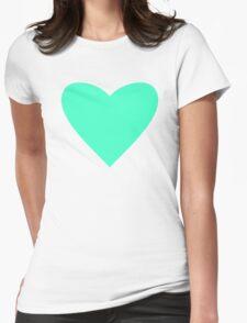 Mint Heart Womens Fitted T-Shirt