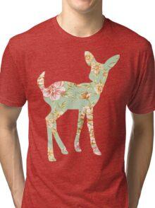 Floral Fawn Tri-blend T-Shirt
