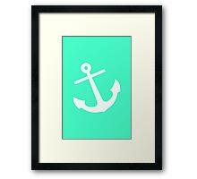 Mint Anchor Framed Print
