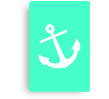 Mint Anchor Canvas Print