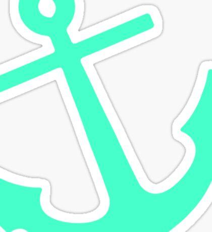 Mint Anchor Sticker