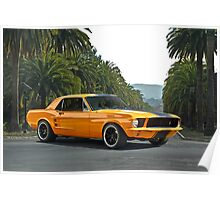 1968 Ford Mustang Coupe Poster