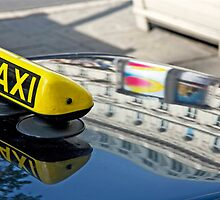 Taxi Reflections by phil decocco