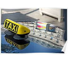Taxi Reflections Poster