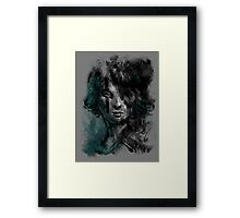 Ink and Color girl Framed Print