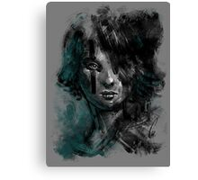 Ink and Color girl Canvas Print
