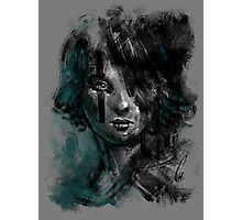 Ink and Color girl Photographic Print