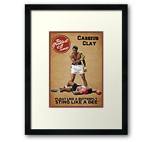 Cassius Clay - The Greatest Framed Print