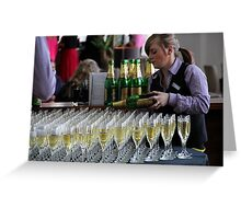 Champagne Reception Greeting Card