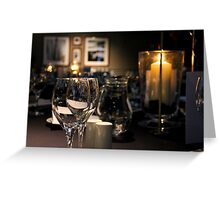 Evening Reception Greeting Card