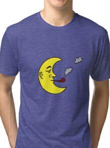 Cartoon Moon Tri-blend T-Shirt