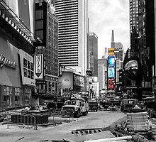 Times Square Under Construction by JohnHall936