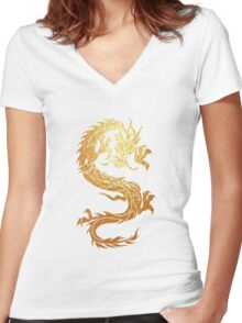 dragon 2 Women's Fitted V-Neck T-Shirt