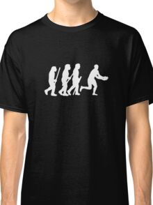 evolution of rugby on dark Classic T-Shirt