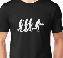 evolution of rugby on dark Unisex T-Shirt