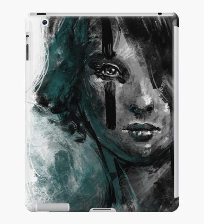 Ink and Color girl iPad Case/Skin