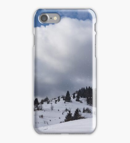 Sunny Snowstorm - a Mountain View to Remember iPhone Case/Skin