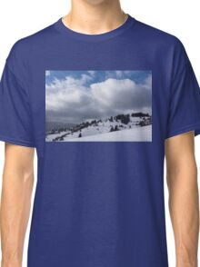 Sunny Snowstorm - a Mountain View to Remember Classic T-Shirt