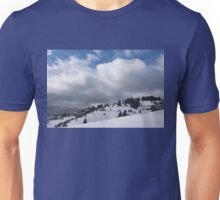 Sunny Snowstorm - a Mountain View to Remember Unisex T-Shirt