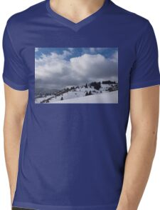 Sunny Snowstorm - a Mountain View to Remember Mens V-Neck T-Shirt