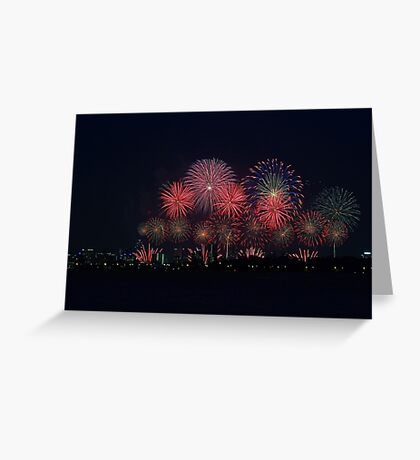 Perth Australia Day Skyworks 2014 Greeting Card