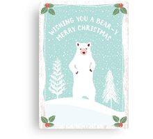 Bear-y Christmas Canvas Print
