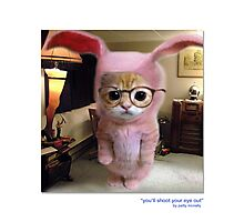 """CATS IN HATS """"You'll shoot Your Eye Out"""" Photographic Print"""