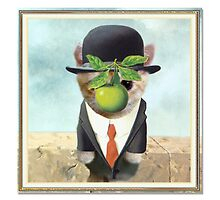 """CATS IN HATS """"Son of Man(x)"""" by Patty McNally"""