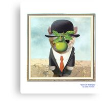 "CATS IN HATS ""Son of Man(x)"" Canvas Print"