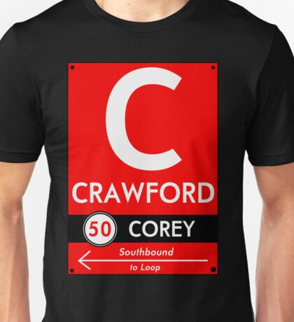 Retro CTA sign Crawford Unisex T-Shirt