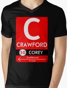 Retro CTA sign Crawford Mens V-Neck T-Shirt