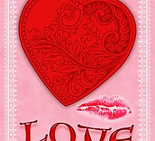 Victorian Heart with a Kisss by Cleave